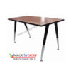 โต๊ะทำงานโล่งขาเหล็กตัว V พ่นสีดำ ปลายขาชุบโครเมี่ยม มีขนาด กว้าง 120,150,180CM รหัส 1414