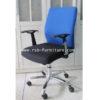 เก้าอี้สำนักงาน พนักพิงและที่นั่งผ้า รหัส 1222