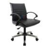 เก้าอี้สำนักงาน พนักพิงหนัง ขาเหล็กตัน รุ่นโปรโมชั่น รหัส 2208