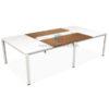 โต๊ะประชุมขาเหล็ก 8-10 ที่นั่ง W280XD140 CM มีปลั๊กไฟและสาย LAN รหัส 1709