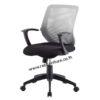 เก้าอี้สำนักงานเตี้ย พนักพิงตาข่ายทรงสี่เหลี่ยม รหัส 1992