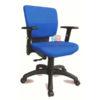 เก้าอี้สำนักงานหุ้มด้วยผ้า แขนปรับระดับได้ รหัส 2217
