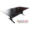 โต๊ะประชุม ทรงเหลี่ยม ขาเหล็กปั้มเงา มีขนาด W180/220/240 CM จำนวน 6-8ที่นั่ง รหัส 2526