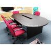 โต๊ะประชุมรูปไข่ 6-10 ที่นั่ง เจาะรูกลาง ขนาด W240XD120 CM รหัส 1275