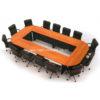 โต๊ะประชุมตัวต่อ เมลามีนเกรด A ทั้งตัว 14 ที่นั่ง W400 X D200 CM รหัส 2030