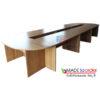โต๊ะประชุมตัวต่อรูปตัวโอ 16-20ที่นั่ง W690XD180CM รหัส 2627