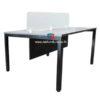 โต๊ะทำงานกลุ่ม WORK STATION 2 ที่นั่ง W120XD120CM มีMINISCREENกระจก รหัส 2513 รุ่นขายดี