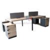 โต๊ะทำงานกลุ่ม WORKSTATION หน้าโต๊ะหนา 50 MM ขนาด W300XD150 CM รหัส 2745