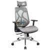 เก้าอี้ผู้บริหาร ที่นั่ง พนักพิงเป็นตาข่ายแบบเหนียว เบาะเลื่อนเข้าออกได้ รับน้ำหนัก 150KG รหัส 2733