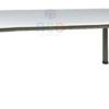 โต๊ะประชุม ขาเหล็กกล่องตรง มีคานรับที่รอบโต๊ะ มีขนาด W 180 / 220 / 240 cm รหัส 3451